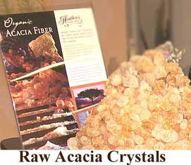 Raw acacia crystals
