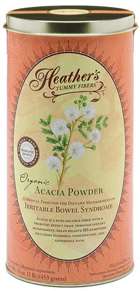Heather's Organic Acacia Powder Tummy Fiber Canister - no FODMAPS