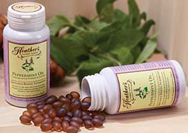 For IBS - Heather's Tummy Tamers Peppermint Oil Caps for Irritable Bowel Syndrome