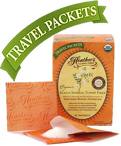 Heather's Organic Acacia Tummy Fiber Travel Packets
