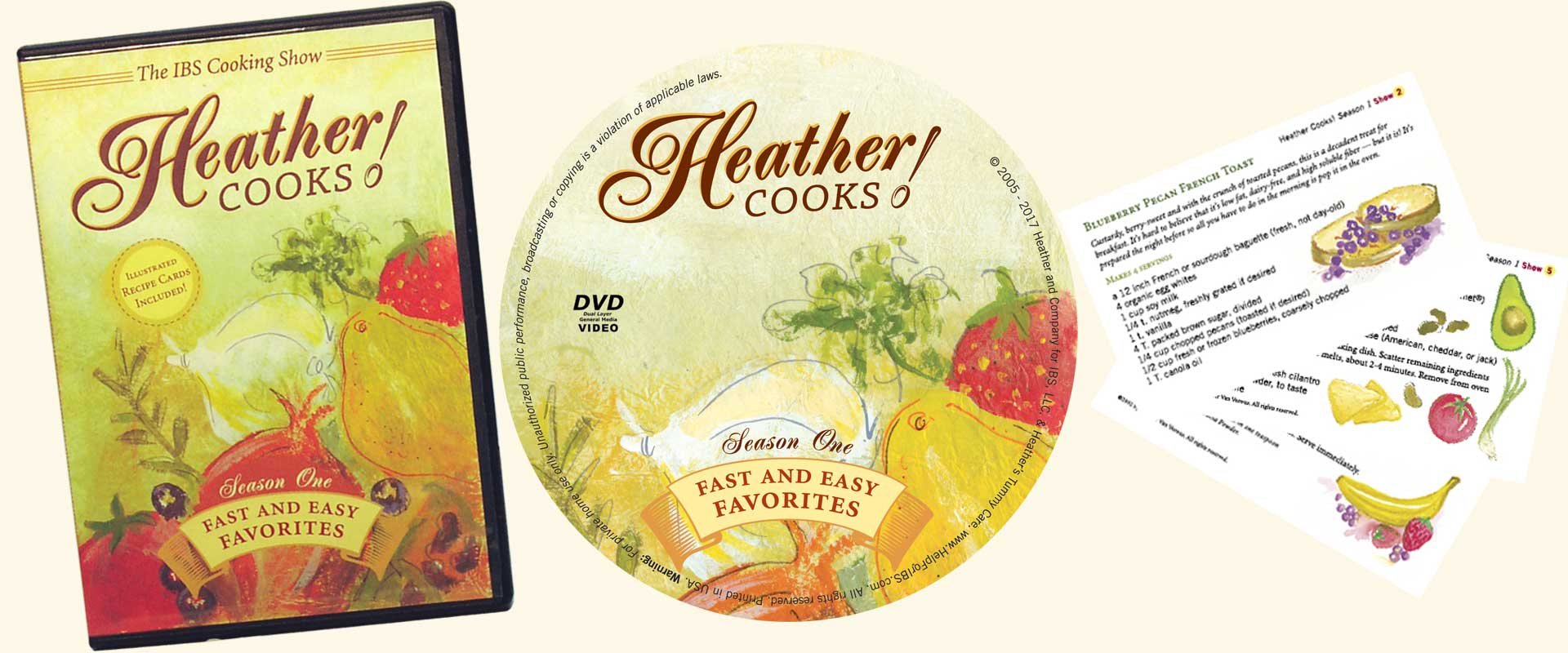 Heather cooks ibs cooking show dvd ibs cooking show dvd recipe cards forumfinder Gallery